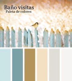 Paleta de colores Baño Visitas