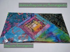 """""""Tourmaline Dream"""" Batik Fabric Charm Pack 12.7 x 12.7 or 5"""" x 5"""" pack of 42""""charms"""" $16.95"""
