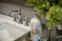 A stunning faucet is an extension of the room's elegant, contemporary style.