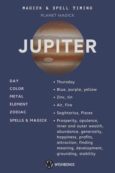 How to use the planetary energies of the Planet Jupiter in your spells and magick. Choosing the right day to cast a spell does not need to be a long and involved process. Jupiter Astrology, Astrology Planets, Learn Astrology, Astrology Zodiac, Astrology Signs, Zodiac Art, Horoscope, Zodiac Signs, Magick Spells