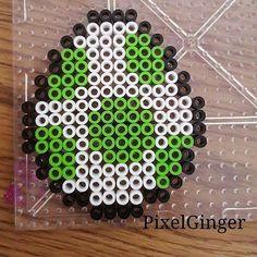 Yoshi egg perler beads by pixelginger