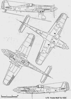 The Ta 152 with JG 301 never flew at its proposed high altitude of feet upwards. Only in test trials before it became combat . Ww2 Aircraft, Military Aircraft, Ta 152, Focke Wulf 190, Daimler Benz, Airplane Design, Aviation Art, Model Airplanes, Luftwaffe