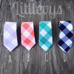 father and son easter ties, coral gingham neck tie, navy gingham ties, lavender neck tie, teal gingham tie, men's checker ties, lavender tie by littlevys on Etsy https://www.etsy.com/listing/267471412/father-and-son-easter-ties-coral-gingham