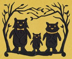Fairytale Shadows - The Three Bears | Urban Threads: Unique and Awesome Embroidery Designs