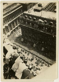 June 13, 1927: A parade is thrown for Charles Lindbergh on Fifth Avenue, New York City.  Unidentified photographer, PR 020.  Gift of Raymond Mattes, 2004.  New-York Historical Society, 87867d.