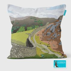 loughrigg fell cushion - Celebrate the glorious British landscape - these cushions will look fabulous on your sofa - Buy online now. English Gifts, Buy Sofa Online, Cushion Pads, Cotton Linen, Countryside, Paths, Outdoor Blanket, British, Cushions