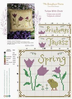The Snowflower Diaries: Tulips with chic (2013) - free pattern