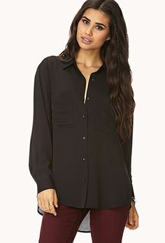 Classic Flowy Button Down | FOREVER21 - 2000075427 (Also comes in white)