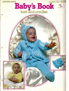 Baby's Book to Knit and Crochet Pattern Book Leisure Arts Leaflet 144 by grammysyarngarden on Etsy