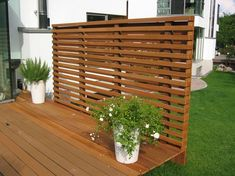 the wood craftsmen - Garden Design Ideas Above Ground Pool, In Ground Pools, Privacy Walls, Pot Plante, Diy Pool, Backyard, Patio, Exterior, Pool Landscaping