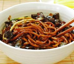 Jjajangmyun Black Bean Noodles | Food Recipes