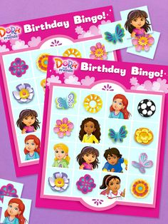 Play this birthday party bingo game before you cut the cake at your child's Dora and Friends party. Birthday Stuff, Friend Birthday, Birthday Fun, Birthday Ideas, Birthday Parties, Theme Ideas, Party Ideas, Dora And Friends, Dora The Explorer
