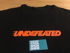 Undefeated UNDFTD Speed Logo Tee Shirt Black Orange L 5 Strikes Play Dirty