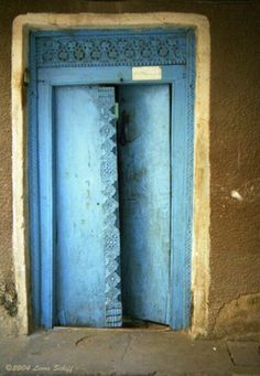 Stonetown Zanzibar blå døre