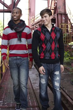 Stylish sweaters for guys from Rue 21<3 Just not the scarf