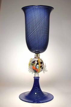 Murano Glass Coppa Facon De Venise filigree chalice 2
