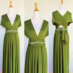 Sage Wedding Bridesmaids Dress Infinity Dress Wrap Dress Convertible Cocktail Summer Dressing Maxi Elegant Prom Dressing Plus Size Dresses
