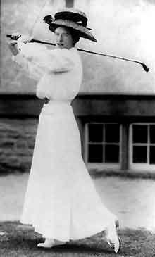 Woman golfer, 1908