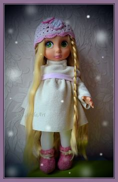 warm winter dress Disney Animators Collection Dolls, Disney Princess Dolls, Disney Animator Doll, Collector Dolls, Diy Dress, Winter Dresses, Girl Dolls, American Girl, Doll Clothes
