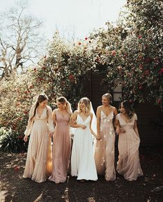 Keeping it Tonal—The Latest Trend for Bridesmaids with BHLDN.- Keeping it Tonal—The Latest Trend for Bridesmaids with BHLDN – Green Wedding Shoes BHLDN Bridesmaid Dress for Spring 2019 Blush Pink Hues - Spring Bridesmaid Dresses, Mismatched Bridesmaid Dresses, Wedding Bridesmaid Dresses, Maxi Dresses, Bridesmaids In Different Dresses, Pink Bridesmaids, Bridesmaid Dresses Floral Print, Blush Pink Maxi Dress, Bhldn Wedding Dress