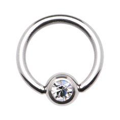 "16 Gauge 5/16"" Austrian Crystal BCR Captive Ring | Body Candy Body Jewelry #bodycandy"
