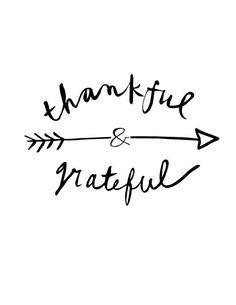 Thankful & grateful.