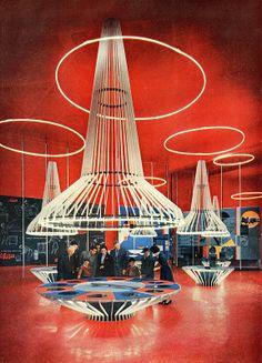 Pavilion of ENI Fair of Milan 1955.