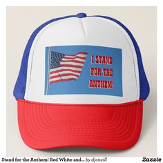 Stand for the Anthem! Red White and Blue Trucker Hat. A great hat to wear to the game. Football players like Bennett and Lynch are protesting through the tradition of playing the United States of America National Anthem before professional games. Will this spread to baseball and NBA basketball? You can tell them how you feel with this colorful cap that displays ole Glory waving over our land of freedom. There are problems that need fixed but the Stars and Stripes represent what is good and…