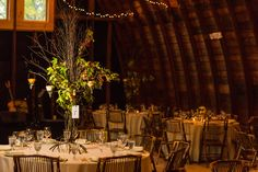 #barn #wedding #fall #amber #tall #centerpiece