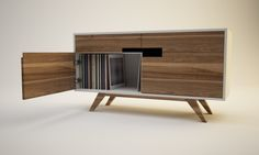 CYCLOPS Lp storage cabinet by Sándor Attila, via Behance