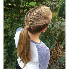 """French Braid with two lace braids inspired by @prettylittlebraids ! Have a great day!"" Photo taken by @hairbysel on Instagram, pinned via the InstaPin iOS App! http://www.instapinapp.com (10/02/2015)"