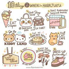 """japanloverme: """" Going to Tokyo and planning to visit Harajuku (a. the fashion mecca in Tokyo)? (=^-ω-^=) Here are the top 10 kawaii activity suggestions! ☆ Eat the famous """"Harajuku"""" crepes. Japon Tokyo, Shinjuku Tokyo, Shibuya Tokyo, Osaka Japan, Kobe Japan, Okinawa Japan, Go To Japan, Visit Japan, Japan Trip"""
