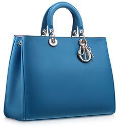 Dior Smooth Mykonos Blue Diorissimo Bag