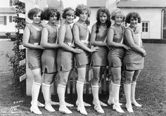5387551335 Atlantic City s Bathing Beauties of 1922 point their toes and nervously  smile for the camera Old