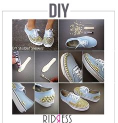 Sneakers are trending this season!  Try this easy #DIY to look rocking!! #DIY #TryNow #HappyFeet #BlingBling #BeBright #Fashionistas #FashionGirls #LoveForFashion #Fashion #FameFashion #Shoes #Accessories #Love #StyleDiaries #Itsallinthedetails #Shopaholics #DressUp #RIDRESS