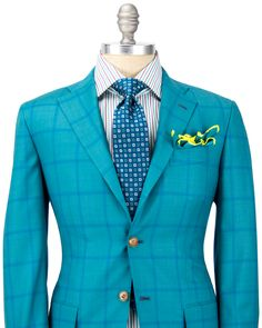 Kiton Teal with Blue