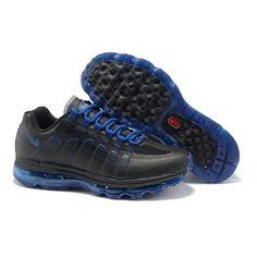 new arrival 4b7f1 da500 Nike Air Max 95 + 360 Black Mineral Blue Men Running Shoes 1006  70 Air
