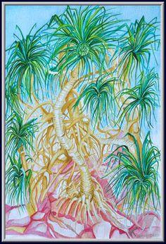 2006_India,Snake_tree #tree #watercolor #painting