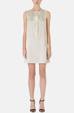 Topshop Pleated Silk Shift Dress available at #Nordstrom