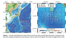The location of the seabed where a large amount of rare-earth metals is found.