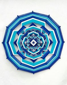 Mandala Ojo de Dios  REIKI ENERGY 12-sided, cotton thread, fiber art, energy, geometric, eye of god, home decor
