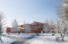 Image 1 of 7 from gallery of The House of Knowledge is a Gorgeous New School Above the Arctic Circle. Courtesy of Liljewall architects