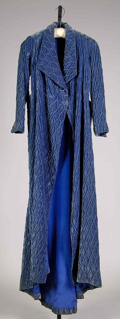 Dressing Gown.  Attributed to House of Schiaparelli (French, 1928–1954).  Designer: Attributed to Elsa Schiaparelli (Italian, 1890–1973). Date: winter 1933–34. Culture: French. Medium: Silk.