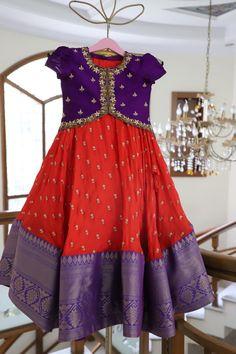 Girls Frock Design, Baby Dress Design, Kids Frocks Design, Baby Frocks Designs, Kids Blouse Designs, Fancy Blouse Designs, Stylish Dress Designs, Designs For Dresses, Lehenga Designs Simple