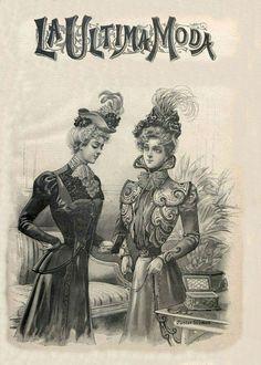 La Ultima moda (3) | Листая старый журнал мод...1898. Обсуждение на LiveInternet - Российский Сервис Онлайн-Дневников