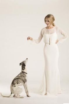 From DECO to DISCO, our ROXY gown exudes illustrious star quality. | Amy Kuschel wedding dress, http://amykuschel.com/