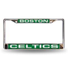 Boston Celtics Laser Chrome Frame