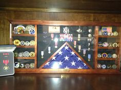 my darling's retirement shadow box - Lynn Coppler by frances Military Retirement Parties, Retirement Gifts, Retirement Ideas, Diy Shadow Box, Shadow Box Frames, Military Shadow Box, Military Crafts, Military Decorations, Sport Craft