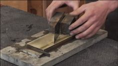 George Vondriska demonstrates the best way to create clean rabbets on a jointer for more accurate woodworking projects. All Tools, Knife Block, Woodworking Projects, Cleaning, Create, Home Cleaning, Woodworking Crafts, Wood Carving, Woodworking