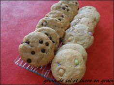 cookies au beurre de cacahuète  de Maryam-rose  smarties et pépites de chocolat